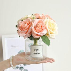 2018 ROSEQUEEN Rose décorations de noël pour la maison soie artificielle Décoration de mariage décoration marrige fleur décorative Parti