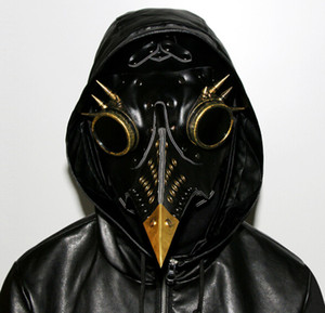 Steampunk Plague Doctor Mask Faux Leather Birds Becco Maschere di Halloween Art Cosplay Carnevale Puntelli