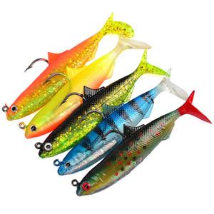 Silikon Balık Minnow VIB Grub yem 10 cm 21g 5 renkler 3D Gözler kurşun balık Kanca Balıkçılık cazibesi