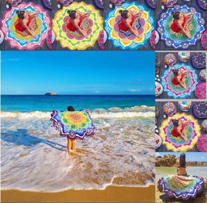 Tassel Giant Purple Yoga Blanket Picnic Camping Mat Sandbeach Towel Summer Sunscreen Shawl Polygon Lotus India style