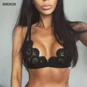 Hirigin Hot Women Lace Bralette Floral Bralet Bra Bustier Crop Top Soutien-Gorge Non Rembourré Sexy Femmes Dames