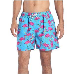 Novos Flamingos Swimwear Swimsuit Troncos de Natação dos homens Camuflagem Praia Briefs Shorts Masculina Sunga Esportes Swimsuit bandeira nacional
