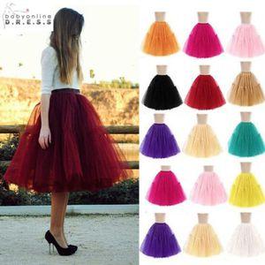 Jupon Cerceau Mariage 18 Renkler Ucuz Balo Tül 6 Katmanlar Petticoat Jüpon Crinolines Gelinlik için Petticoats CPA539