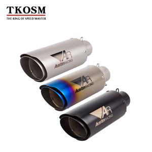 TKOSM 51 milímetros Motos de escape Eipe Laser AR Três Cores escape cauda dupla Silenciador Para Kawasaki Z900 GSXR1000RR DUKE690