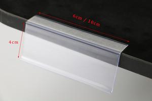 L shape Shelf Data Strip Label Holder Sign Clip Bar Channel Price Tag Price Card Display Shelf Sign Tag Cover Price Talker Strip Rack