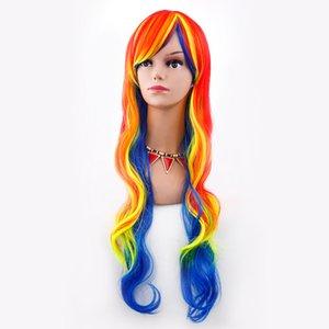 Hair Wigs Party Cosplay Disfraz Pelucas de disfraces Ombre pelucas lolita Sexy Womens largo ondulado rizado peluca llena 12 colores FZP39