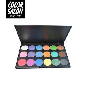 Color Salon 18colors Matte Glitter Shimmer Tropical Vacation Paleta de sombras de ojos Professional eyeshadow makeup cosmetic 2.7g * 18