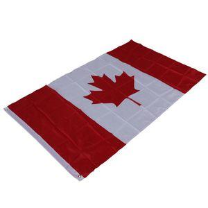 Bandera Nacional de Canadá 90 * 150 cm Para la Copa Mundial Animar Banner Celebración Decoración Fanáticos del Hogar Decoraciones de Fiesta 3 * 5ft Banner 6qta ZZ