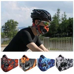 Sports Masks Men Women Activated Carbon Dust Proof Cycling Half Face Mask Bicycle Bike Dustproof Running Oral Hygiene GGA340 20PCS