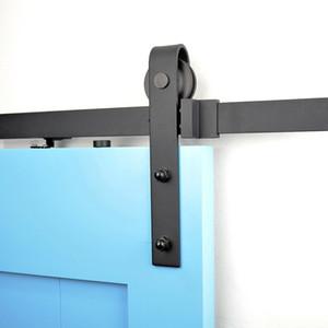 لينة إغلاق آلية انزلاق خشبية باب كيت الرول المسار عجلة للانزلاق نظام الأجهزة باب الحظيرة