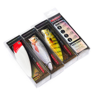 Brand Retail boxed Package Popper Laser bass Artificial lure fishhook 9.5cm 16.5g Large mouth fishing bait