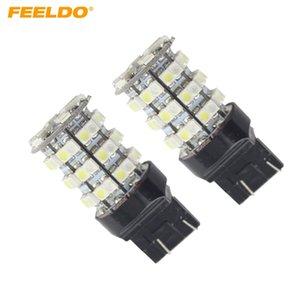 FEELDO 2PCS 7443 T20 1210 60SMD 듀얼 컬러 화이트 / 앰버 스위치 백 자동차 백닝 신호 백업 LED 조명 # 1480