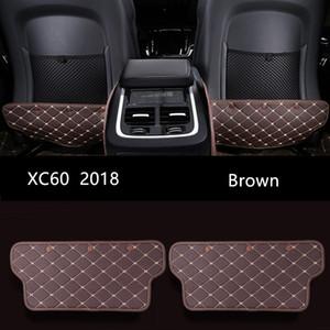 Cuir noir Siège d'auto Anti coup Pad Dossier Brown Car Intérieur Anti sale tapis pad de protection pour Volvo XC60 2018