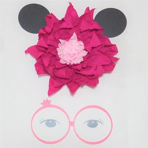 Kedi Dev Krep Kağıt Çiçekler Için Kedi Tema Parti Doğum Günü Tatlı Masa Dekor Bebek Kreş Duş Zemin MCT037 30 CM