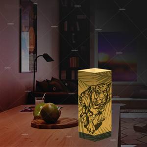 Indoor-Papier Schatten Night USB Lichter Tiger Lichter Hauptdekoration Leuchten Tisch LED-Licht als Geschenk für Kinder Großhandelsdropshipping