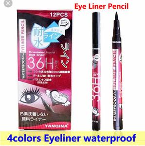 العين كحل قلم كحل القلم 36 h كحل القلم 4 ألوان yanqina طويلة الأمد للماء العين اينر قلم عالية الجودة dhl شحن مجاني
