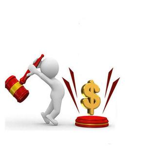 Llenar el pago diferencia de precio de un dólar para diferentes coste extra costo de muestra diferent etc libera el envío
