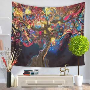 13 stile di stampa albero colorato muro arazzo elevata quantità multifunzionale letto tovaglia Shee telo mare bello libera la nave decorazione della casa