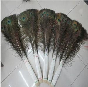 Eleganti materiali decorativi Real Natural Peacock Feather Beautiful Feathers da 70 a 80 cm spedizione gratuita