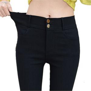 Moda 2017 New Spring delle donne eleganti del lavoro di usura di stirata sottili pantaloni della matita pantaloni delle ghette per le donne Plus Size femminile 1340