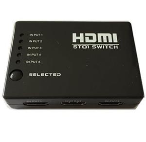 HDMI Switch 5 * 1 Compatible con 1080P 3D Switch HDMI 5 TO 1 control remoto Smart Android 1080P de alta calidad con control remoto IR