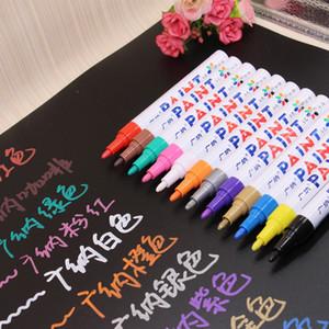 12x красочные водонепроницаемый ручка автомобиль шин шин протектора CD металлические постоянные маркеры краски граффити жирный маркер ручка маркадор канцтерные принадлежности