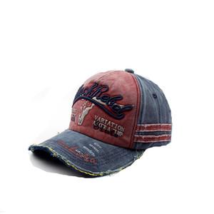 Новый 2018 старинные мыть бейсбол дальнобойщик cap патч письмо папа Hat Ковбой cap Sun Hat кости snapback basecap шляпы шапки мужчины gorras