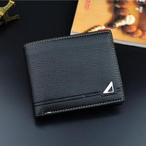 Carteras para hombre de la manera cuero genuino corto diseño cerrojo cartera de los hombres de la marca breve elegante monederos portátiles casos titular de la tarjeta