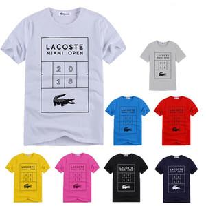 여름 2019 코튼 티셔츠 프린트 흥미로운 동물 망 큰 사이즈 티셔츠 반소매 슬림 피트 탑스 남성 의류
