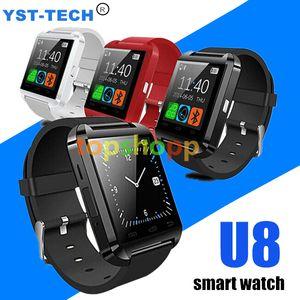 Smartwatch Bluetooth U8 Relógio Inteligente Relógio de Pulso Relógios para Samsung S4 / S5 / S6 / S7 / Nota 2 / Nota 3 / Nota 4 / Android Telefone HTC Smartphones 1000 pcs