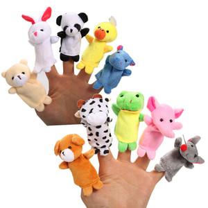 10шт милый мультфильм биологический биологический животное пальца марионетки плюшевые игрушки ребенка ребенок благополучно куклы мальчики девочек пальцев