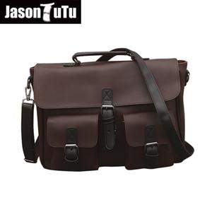 JASON TUTU Bandoleira Sacos para homens Multifunction bolsa cavalo dobro do ombro saco de alta qualidade mad Pu saco homens Promoção B377