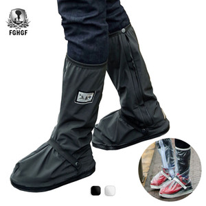 FGHGF Noir Transparent Imperméable Étanche Couvre-Chaussures En Plein Air Moto Vélo Vélo Hommes Femmes Réutilisable Couvre-Chaussures Bottes Protecteur