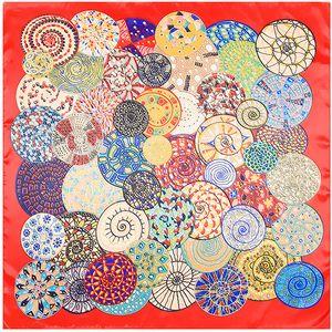 Nueva sarga bufanda de seda mujer España Paisley Oficina de impresión Pañuelo de seda de moda pañuelo pañuelos WrapsShawls 90cm * 90cm