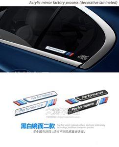 2pcs Car Styling Car window decorative M emblem sticker car fender decal 3D sticker for BMW E90 F30 F10 E46 E36
