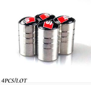 4 unids / lote Válvulas de Neumáticos de Rueda de Coche Neumáticos Tapas de Aire para A3 A4 A5 A7 Q3 Q5 AUDI A1 Q7 Accesorios Car styling