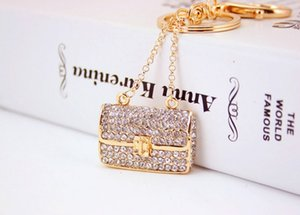 Women Full Keychains Handbag Rhinestone Key Key Chains Brand Rings Bag Charm Fashion Pendant Keyrings Creative Car Wholesale Ccjlv
