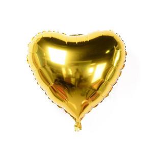 شكل قلب الألومنيوم احباط بالونات 18 بوصة متعدد الألوان زفاف الديكور الحب بالون الهيليوم نفخ الهواء كرات حزب اللوازم