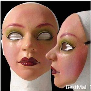 여자 마스크 라텍스 실리콘 전설적인 남자 피부 현실적인 인간의 피부 마스크 할로윈 무도회 코스 프레 새로운 성별 공개