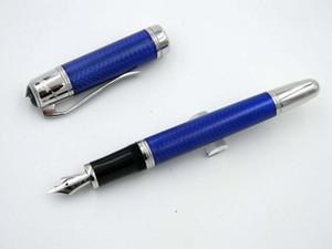 Numero Stilografica CALDO UFFICIO metallo grande scrittore Navy Blue Wave di lusso high-end Serial