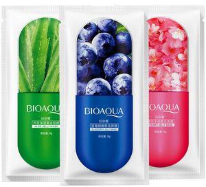 Dropshipping BIOAQUA Facial Jelly Sheet Masque Hydratant Profond Masque Hydratant Prévenir Blueberry Sakula Feuille Sommeil Masque 8g livraison gratuite