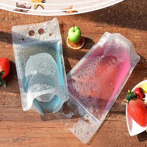 Effacer Stand-up boisson boisson café en plastique en plastique fermeture à glissière sac d'emballage
