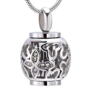 IJD9959 Nouvelle Arrivée Fleur Perle toujours dans mon coeur lanterne Crémation bijoux pour animaux / personne Mémorial Ash Keepsake Urne Collier pour les femmes