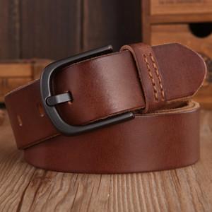2018 خمر أحزمة رجالي فاخر disigner حزام النساء جودة عالية 100٪ ٪ جلد طبيعي حزام البني الأخضر جينز الجمل القهوة