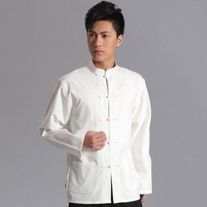 Manches longues en coton chinois traditionnel vêtements Tang costume hommes Top Tai Chi uniforme printemps Chemisier manteau pour homme