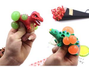 Juguetes de Cuentas divertido blando Vent dinosaurio Squeeze bola de uva bola del acoplamiento de descompresión niños dinosaurio de extrusión para adultos Vent bola
