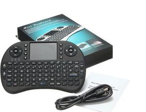 Teclado inalámbrico rii i8 teclados Fly Air Mouse Control remoto multimedia Multi-Touch de mano para TV BOX Android Mini PC 1 pc
