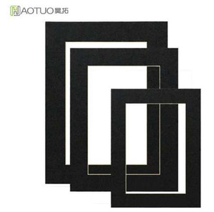 Marco de fotos HAOTUO sin ácido Art photo Mat para 4x6 Photo 45 Degree Bisel Cut Album 25 piezas