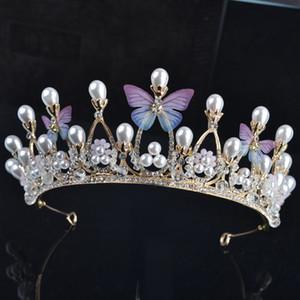 Barocco sposare Butterfly Una corona Serata festa Tiara abito da sposa accessori per capelli sposa accessori per capelli di design