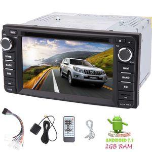Android 7.1 Car Stereo 6.2''Double Din Car DVD HeadUnit Radio GPS Auto estéreo para TOYOTA Corolla EX (2008 ~ 2013) Octa Core BT